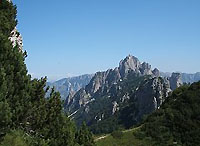 Scorcio dal Baffelan sul Monte Cornetto